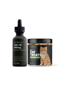 CBD Cat Bundle with Treats and 1000mg tincture CBD Oil